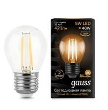 Лампа Gauss LED Filament Globe E27 5W 2700K недорого