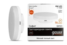 Лампа Gauss LED Elementary GX53 6W 3000K недорого