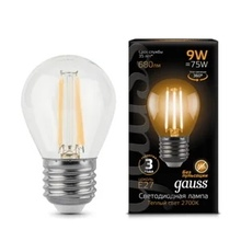 Лампа Gauss LED Filament Globe E27 9W 2700K недорого