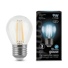 Лампа Gauss LED Filament Globe E27 9W 4100K недорого
