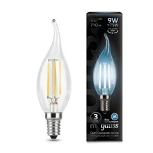 Лампа Gauss LED Filament Candle tailed E14 9W 4100K недорого