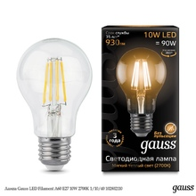 Лампа Gauss LED Filament A60 E27 10W 2700К недорого